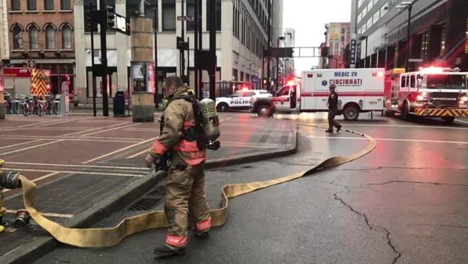 Fire crews battled a fire at the Metropole on Sunday