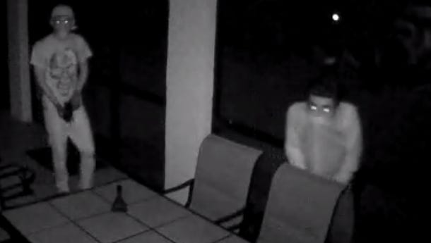 Authorities are searching for suspects in a home burglary from last month.