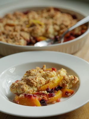 A peach and blueberry cobbler is high in antioxidants and nutrients like vitamin C.