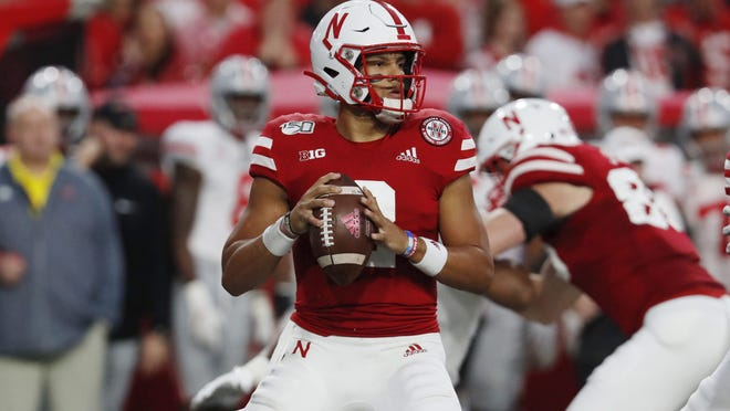 Sep 28, 2019; Lincoln, NE, USA; Nebraska Cornhuskers quarterback Adrian Martinez. Photo Credit: Bruce Thorson - USA TODAY Sports