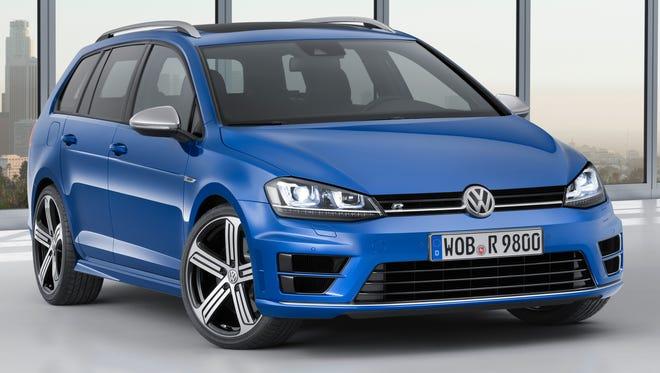 The Volkswagen Golf R Variant performance wagon.
