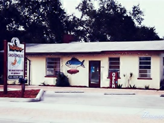 The front of Mrs. Peters Smokehouse, 1500 NE Dixie