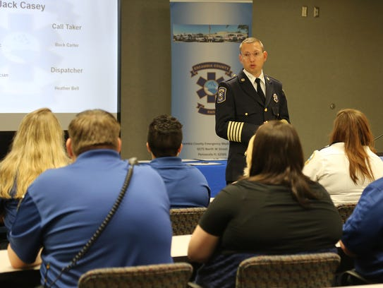 Escambia County Chief of EMS Steve White speaks about