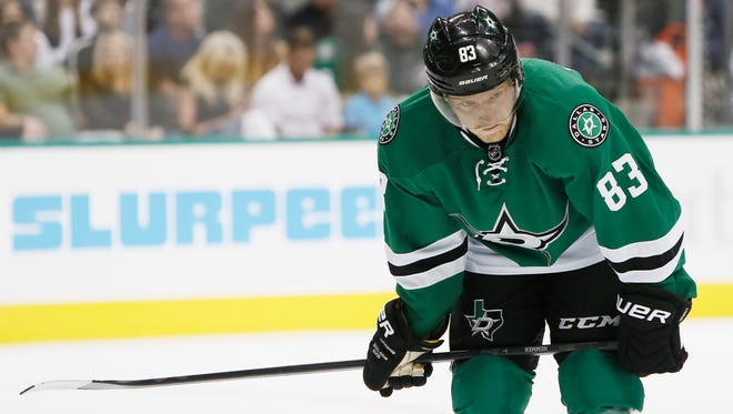 Dallas Stars right wing Ales Hemsky has one assist in 11 games.