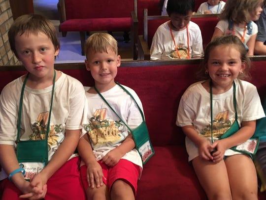 Vacation Bible Schoolers at Fellowship Presbyterian.