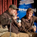 Larry The Cable Guy (L-R) and Jeff Foxworthy perform at the Funny Bone for a special comedic conversation to air on SiriusXM's Jeff & Larry's Comedy Roundup Channel on December 4, 2015 in Omaha, Nebraska.