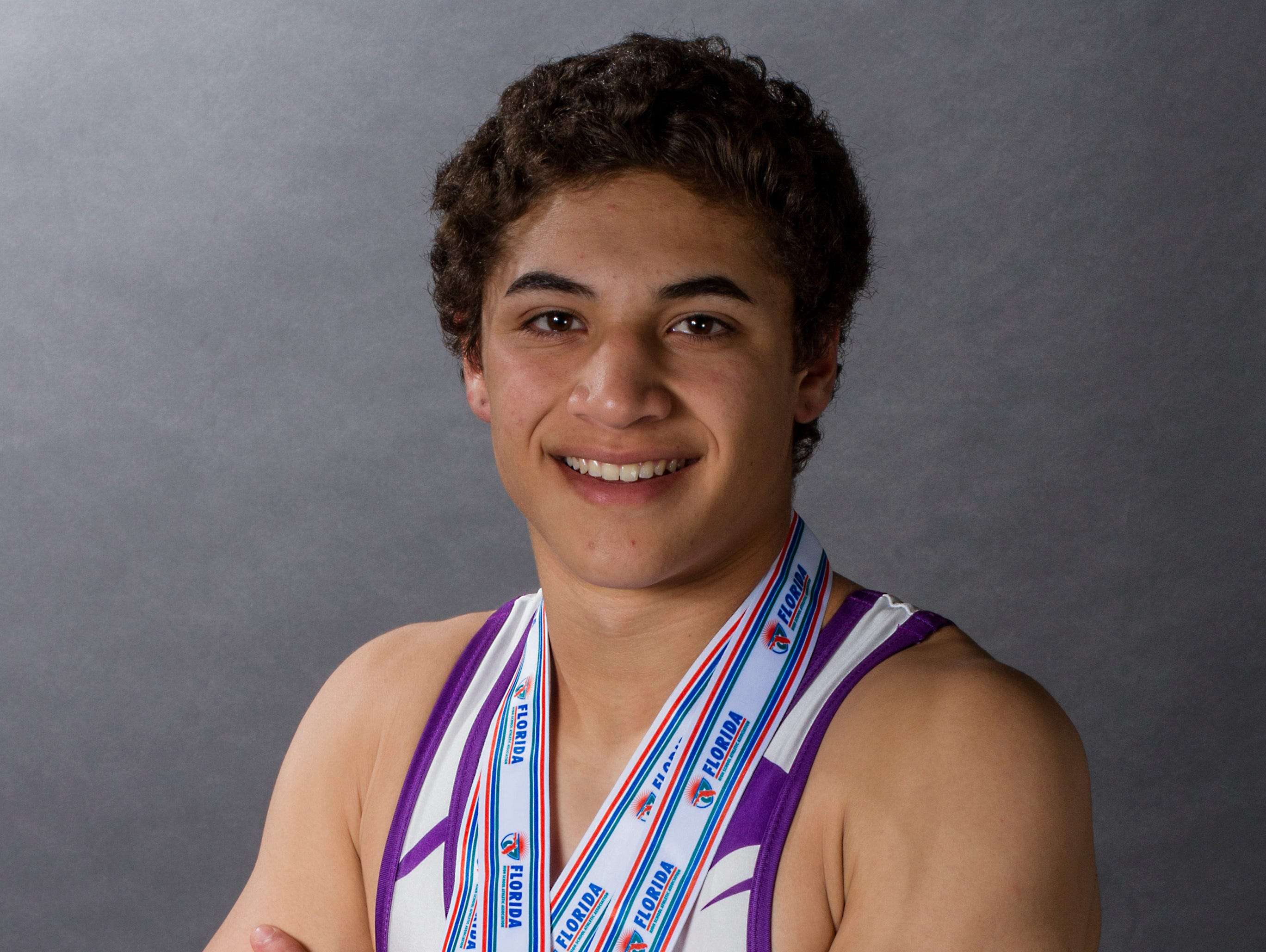 Jalen Soto, 16, is a sophomore wrestler at Cypress Lake High School in Fort Myers.