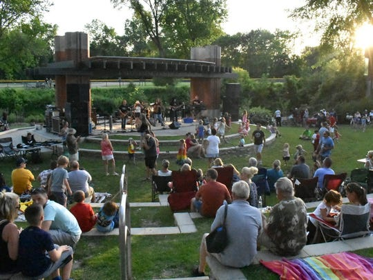 The LaFontaine Amphitheater was jumping for the performance
