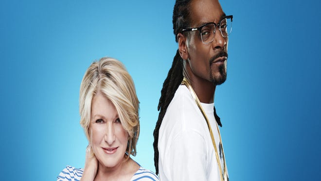 Martha Stewart, left, and Snoop Dogg in a promotional image for 'Martha & Snoop's Potluck Dinner Party'