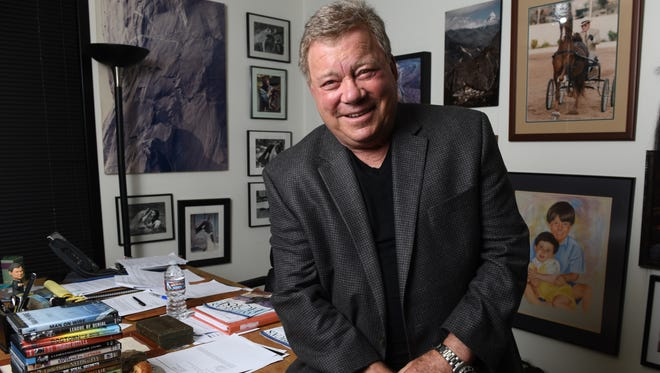 "If anyone ought to know about the influence of 'Star Trek,' it's William Shatner, who played Captain Kirk.  1/14/16 12:18:43 PM --- WILLIAM SHATNER--- Studio City, CA, U.S.A: Portrait of William Shatner in his Los Angeles area office. Shatner begins a multi-city tour called "" Star Trek The Ultimate Voyage Concert Tour"". ""Star Trek"" celebrates its 50th anniversary this year. Photo by Robert Hanashiro, USA TODAY staff  ORG XMIT:  RH 134363 William Shatner  1/14/2016 [Via MerlinFTP Drop]"