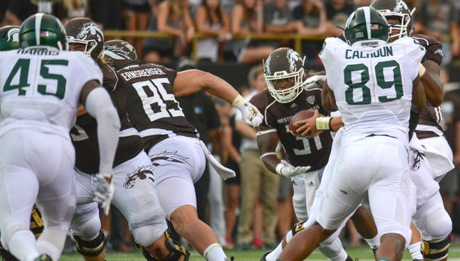 Lakeview grad Donnie Ernsberger (85) and the Western Michigan Broncos visit No. 1 Ohio State on Saturday.
