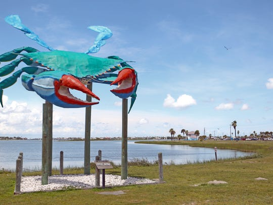 Rockport's Blue Crab is considered a town landmark.