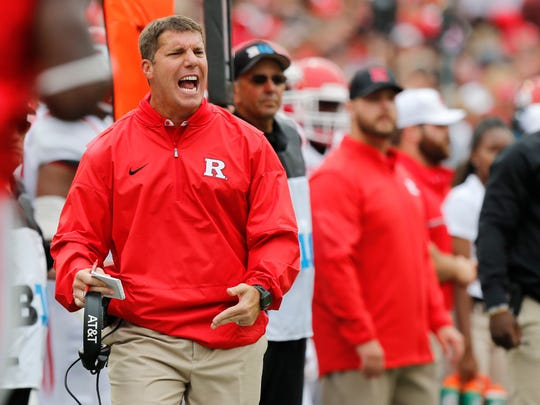 Rutgers football coach Chris Ash