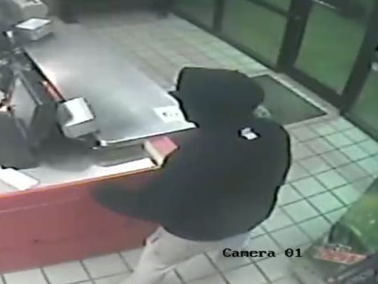 Attempted robbery suspect caught on surveillance at the Papa John's on Airline Drive  Nov. 26