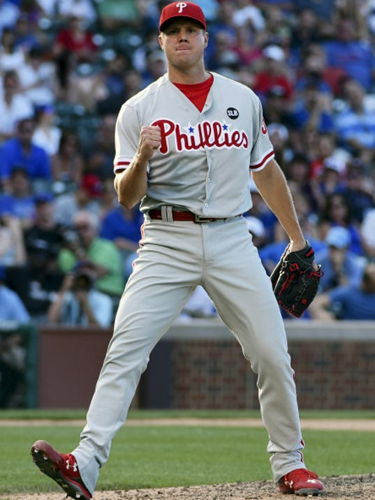 New Washington Nationals closer Jonathan Papelbon is delighted that he's no longer pitching for the Philadelphia Phillies. (AP Photo/David Banks)