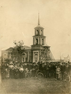 The Lutheran church in the town of Basel, Russia, founded by Germans. The Freund family of Sheboygan came from Basel.