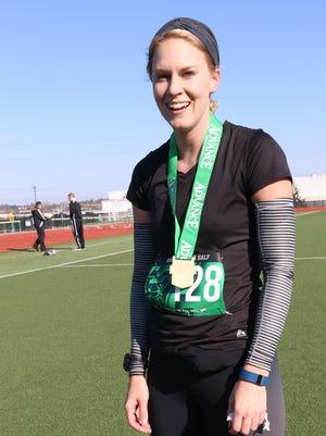 Amanda Lohss of Philadelphia was the top female finisher intheSpartan Half Marathon on Sunday. She finished in 1:35:01.