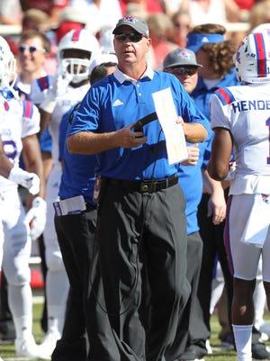 Louisiana Tech coach Skip Holtz has a 30-20 record during 3-plus years as the Bulldogs' head coach.