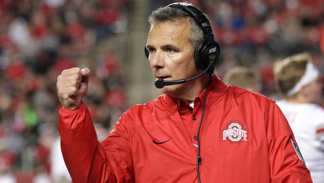 Urban Meyer will be back on the sidelines leading the Ohio State football team when the Buckeyes face the Penn State Nittany Lions on Saturday, Sept. 29. AP FILE PHOTO.