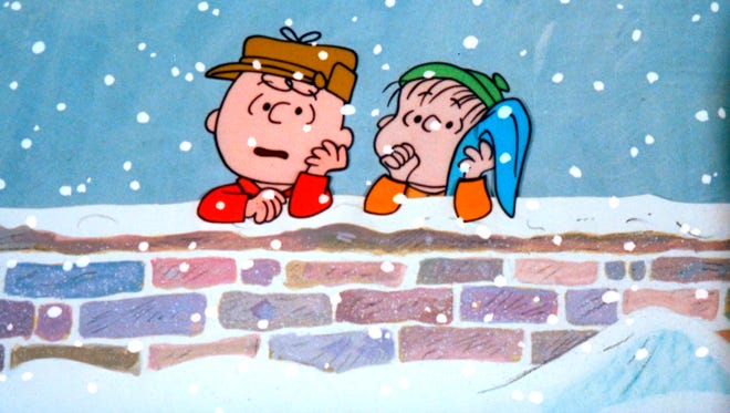 Charlie Brown, left, and Linus mull the true meaning of Christmas in 'A Charlie Brown Christmas,' which turns 50 this year.