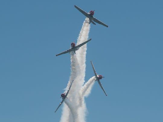 The GEICO Skytypers perform during the Ocean City Air