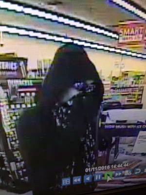 Appleton Police released this surveillance photo from an armed robbery Monday at Family Dollar in Appleton.