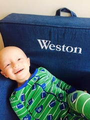 Weston was cancer-free for the entire nine months his mother, Becky, was pregnant with his baby brother, Fletcher