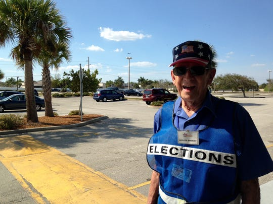 Dick Pank of Satellite Beach has worked elections for
