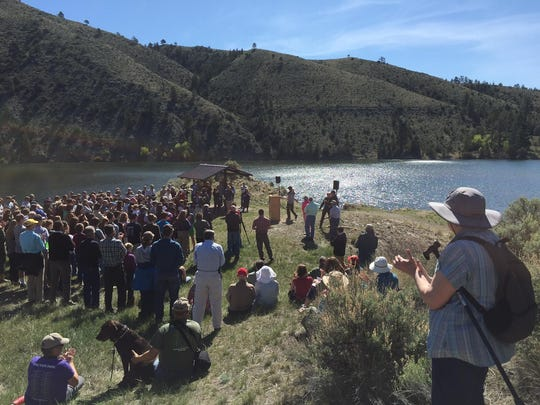 Employees with land management agencies, conservationists and students turned out for a talk by Interior Secretary Sally Jewell.