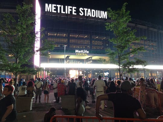 Concert fans are shut out of the Hot 97 Summer Jam after officials close the stadium gate on Sunday, June 11.