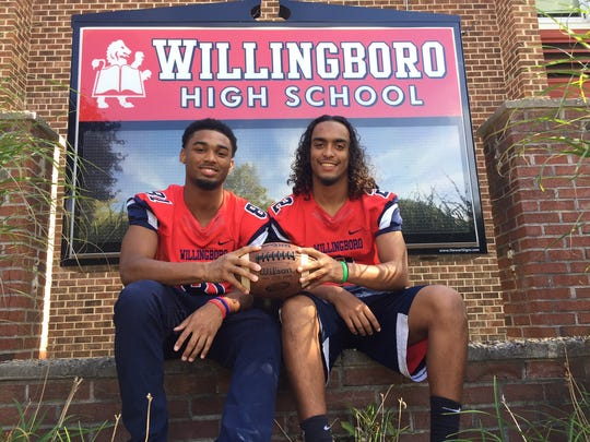 """Willingboro's David Green III, left, and Trae Greene consider themselves """"brothers"""" even though they're not related by blood."""