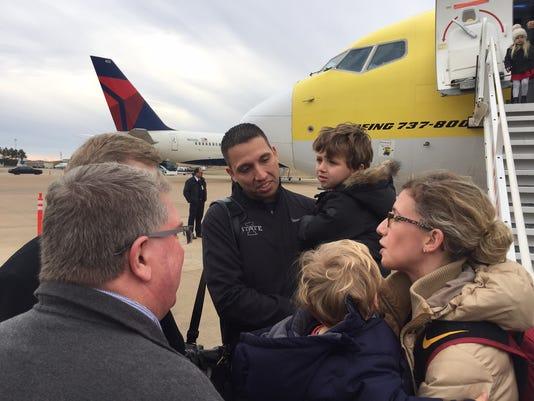 Matt Campbell arrives in Memphis
