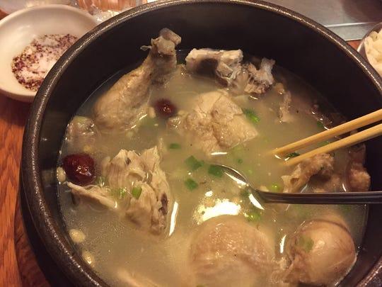 Healthy chicken soup from Riverside Korean Restaurant in Covington.