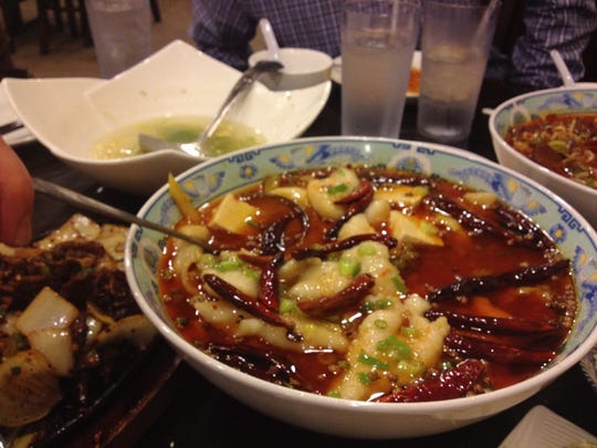 A bowl of hot soup from Sichuan Chili in Evendale.