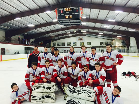 Pictured is the IYHA Bantam travel team, which won
