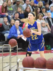 Mountain Home's Hannah Pfeifer shoots during the 3-point