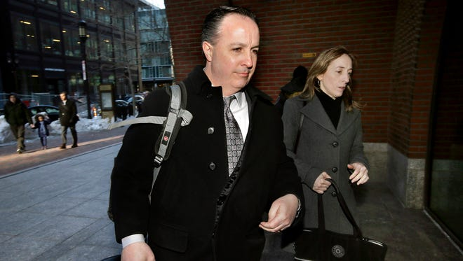 Barry Cadden arrives at the federal courthouse in Boston on March 16, 2017.