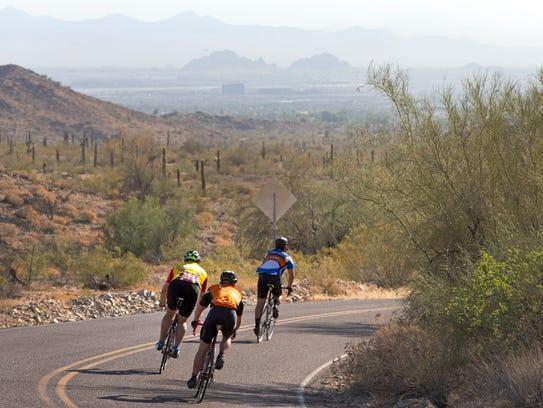 South Mountain Park cyclist