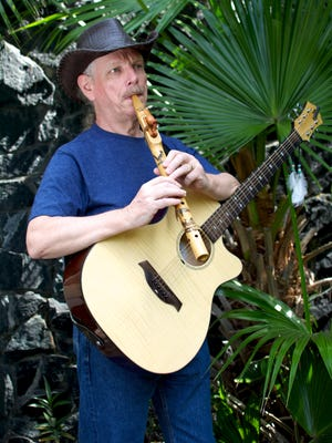 John Ellis, who performs as Johnny Kee, makes beautiful wooden flutes for his company Turtle Mound Flutes. Here he performs with his roadrunner flute.