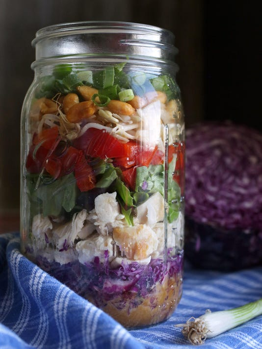 Salads to admire first, then eat