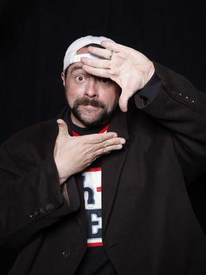 """Filmmaker Kevin Smith poses for a portrait to promote """"Yoga Hosers"""" during the Sundance Film Festival on Sunday, Jan. 24, 2016 in Park City, Utah."""