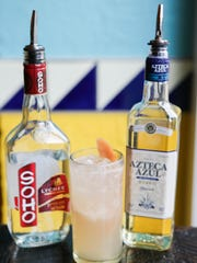 The Lychee Paloma cocktail at Doc's Cantina features Azteca Azul tequila and SOHO Lychee liqueur with grape fruite juice and a splash of club soda. July 18, 2016