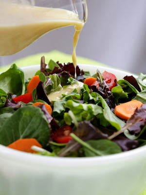 Salad is a great meal in this heat. Homemade Caesar salad dressing takes a little practice to emulsify, but it is worth the effort.