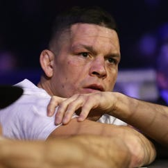 Nate Diaz nearly lit a joint on live TV at UFC event
