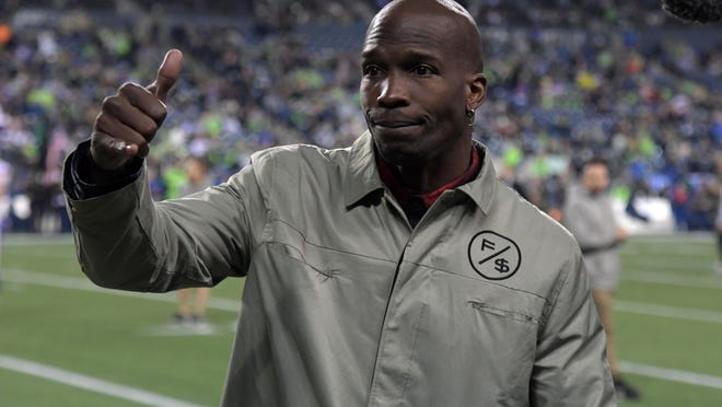 Dec 2, 2019; Seattle, WA, USA; Chad Johnson (Chad Ochocinco) attends the NFL game between the Minnesota Vikings and the Seattle Seahawks at CenturyLink Field. Mandatory Credit: Kirby Lee-USA TODAY Sports