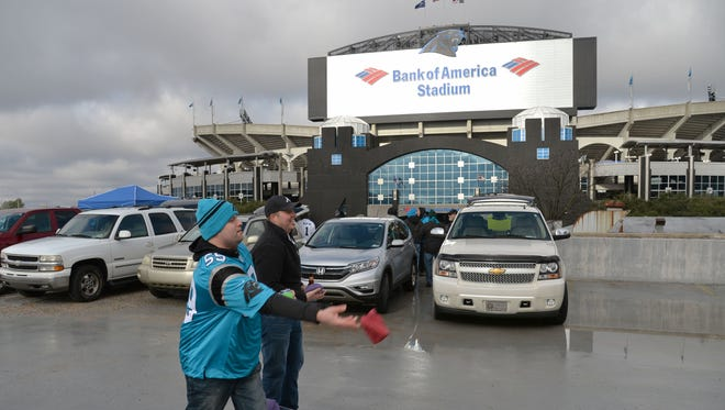 Panthers fans hope gray skies are the worst thing they have to contend with weather-wise for Sunday's NFC Championship Game.