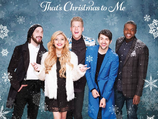"This CD cover image released by RCA Records shows ""That's Christmas to Me,"" by Pentatonix. (AP Photo/RCA Records)"