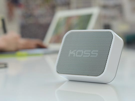 The BTS1 Bluetooth speaker from Koss can provide directional or omnidirectional sound with the help of the built-in kickstand.