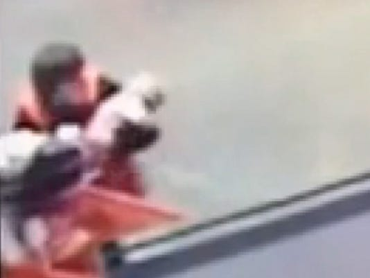 Amazing Save Home Depot Worker Catches Falling Baby