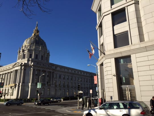 The San Francisco Superior Court building, which sits